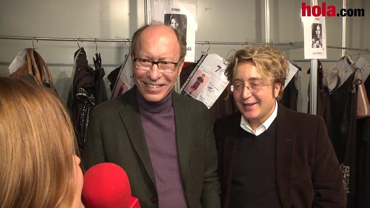 Victorio & Lucchino: 'Hemos hecho una colección novedosa, con lineas muy rectas que se despegan de la silueta'