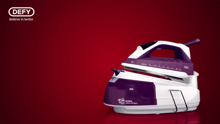 Preview image of Defy 2600w Steam Iron With Steam Station video