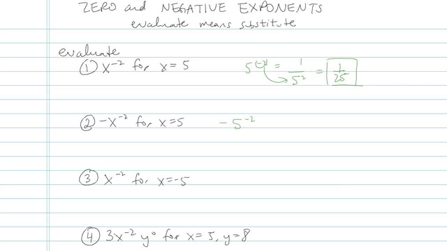 Zero and Negative Exponents - Problem 4