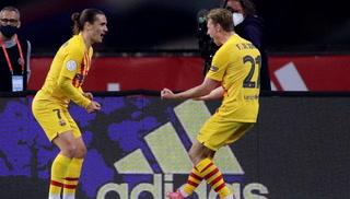 Los dos goles del Barcelona en tres minutos ante el Athletic en la final de la Copa del Rey