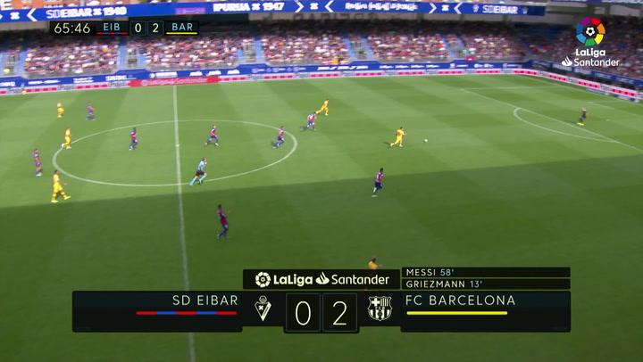 Gol de Luis Suárez (0-3) en el Eibar 0-3 Barcelona