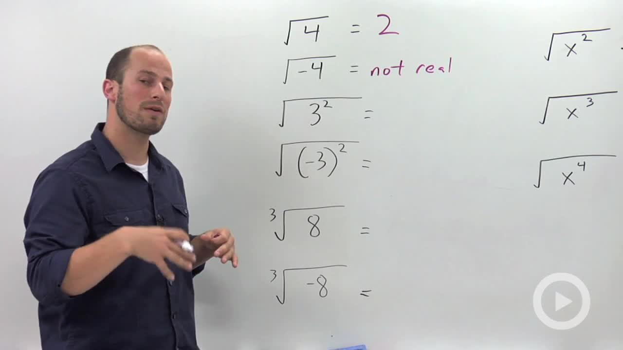 Radicals and Absolute Values - Concept - Algebra 2 Video by