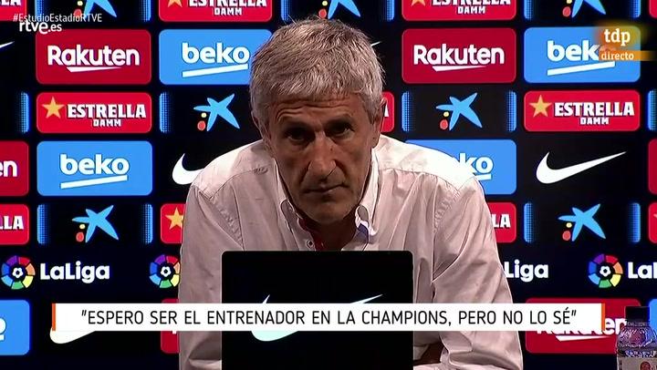 Setién, tras la 'rajada' de Messi: