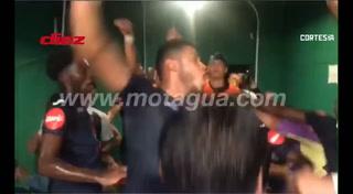 Eufórico festejo de Motagua dedicado a Marathón:
