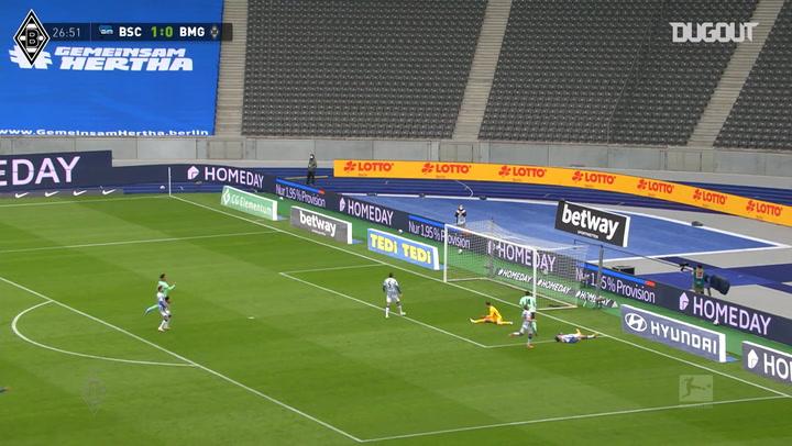 Pléa earns Gladbach a point at Hertha Berlin