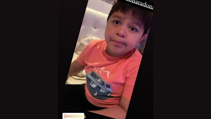 El hijo menor de Maradona le felicita por su cumpleaños