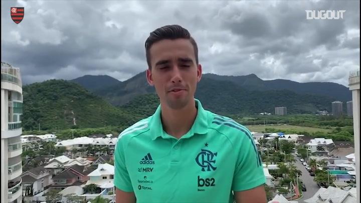 Jogadores do Flamengo mandam mensagem de apoio contra o Covid-19