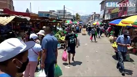 Así está el ambiente en los mercados de Comayagüela y zonal Belén