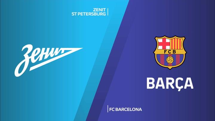 Euroliga: Resumen del Zenit St Petersburgo - FC Barcelona