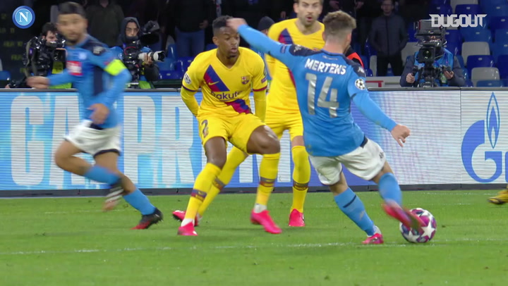 SSC Napoli and FC Barcelona ends level at the San Paolo Stadium