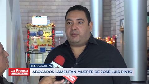 Abogados lamentan muerte de José Luis Pinto