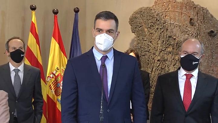 Sánchez dice que el proyecto de vacunación de HIPRA es muy esperanzador