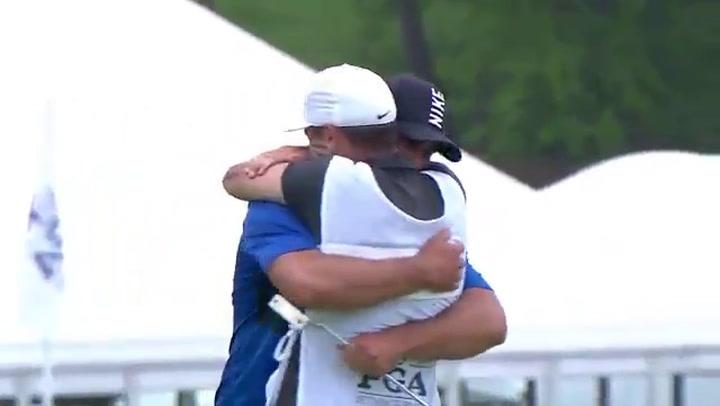 El putt ganador de Brooks Koepka en el PGA Championship