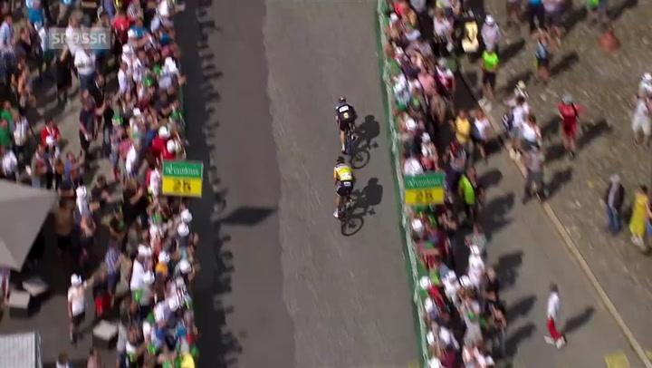Elia Viviani le gana de nuevo la partida a Peter Sagan en el Tour de Suiza