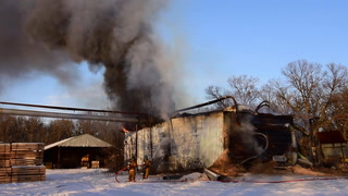 Stewart's Forest Products Boiler Building Blaze