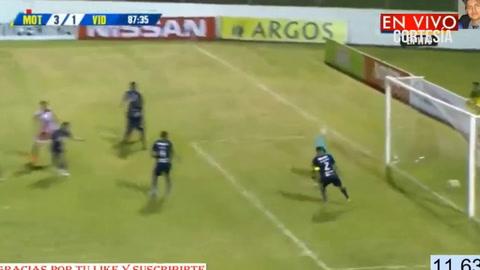 Jesús Rivera anota el descuento para Vida 3-1 ante Motagua