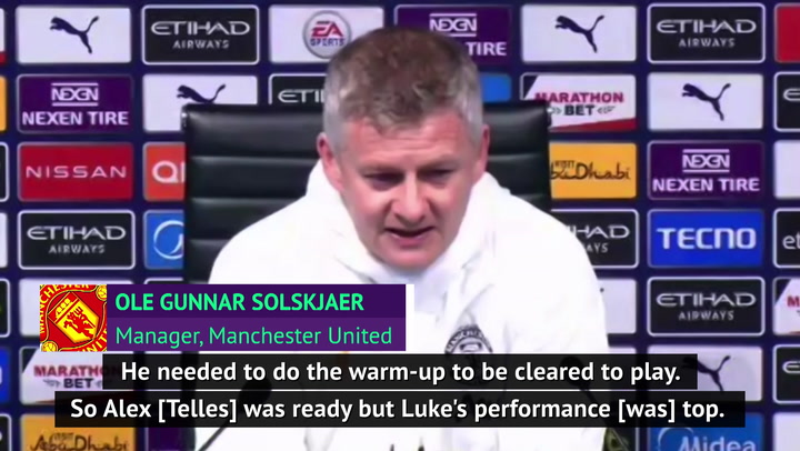 Solskjaer hails Shaw's performance in United's derby win