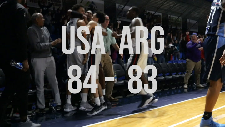 Reggie Hearn Hits The Game Winner Versus Argentina