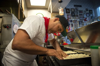 Making gluten-free pizza at Good Pie in Las Vegas