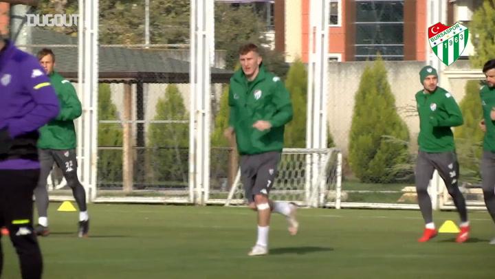 Bursaspor, Altay Maçı Hazırlıklarına Başladı