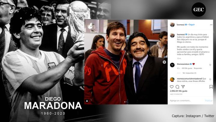 Diego Maradona: Estos son los mensajes de despedida de las diferentes personalidades del mundo