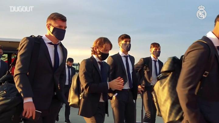 Real Madrid have arrived in Kiev