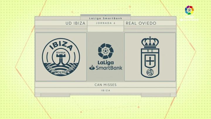 LaLiga Santander (J6): Resumen y goles del UD Ibiza 1-1 Oviedo