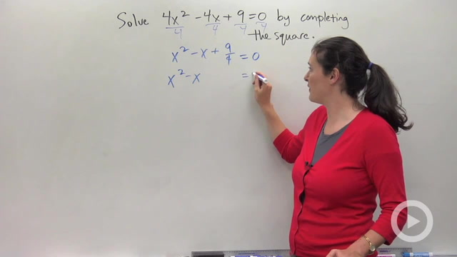 Completing the Square - Problem 4