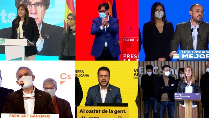 Candidato a la investidura y posibles pactos, primeras reacciones a elecciones catalanas