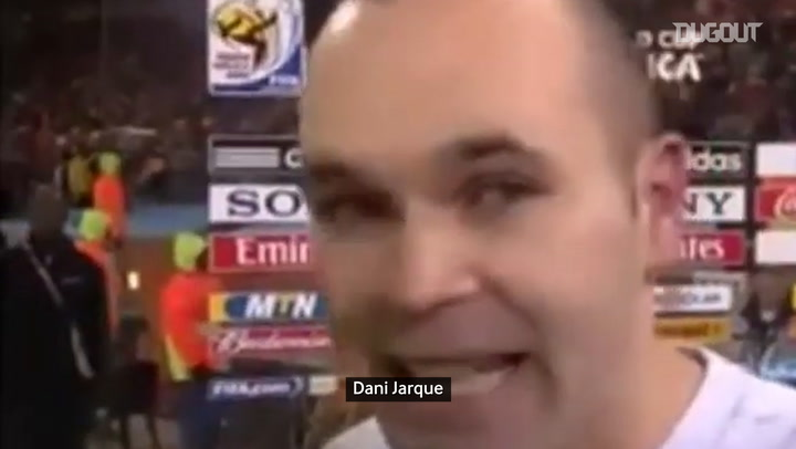 Iniesta's words after scoring the winner in the 2010 World Cup Final