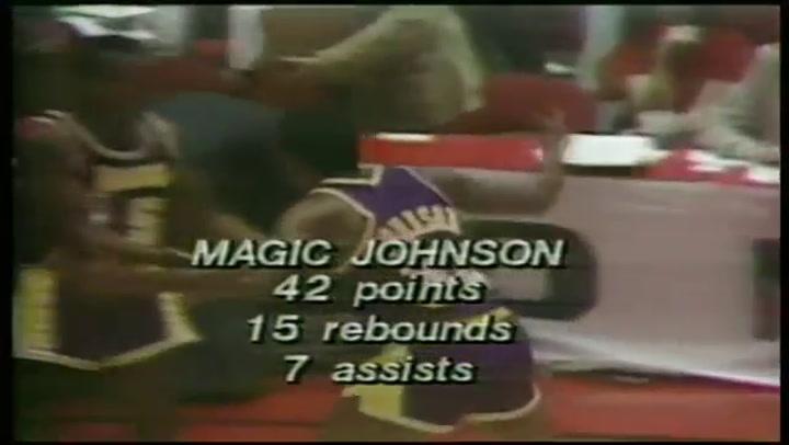 'Magic' Johnson protagonizó el 16 de mayo de 1980 un momento legendario en el historia del deporte