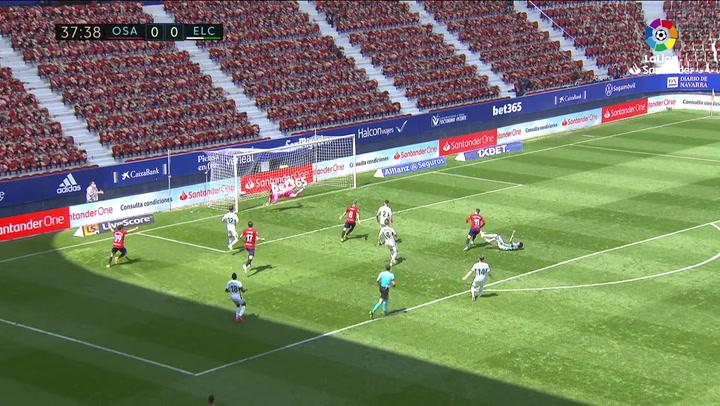 Gol de Barja (1-0) en el Osasuna 2-0 Elche