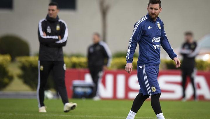 Último ensayo para Messi antes de la Copa América