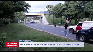 Un hombre muerto y dos heridos deja accidente en bulevar