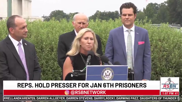 Marjorie Taylor Greene and Matt Gaetz locked out of facility holding January 6th prisoners