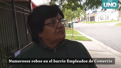 El barrio Empleados de Comercio se convirtió en blanco de robos y hurtos