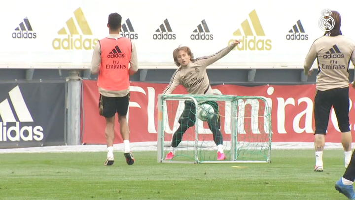 Real Madrid prepare for the match against Celta