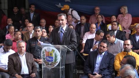 Guaidó dice que actores internacionales son necesarios para solucionar crisis en Venezuela