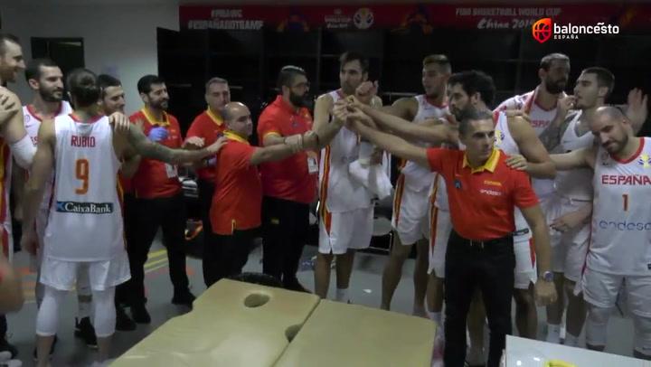 Así celebró el equipo español el pase a semifinales en el Mundial de baloncesto