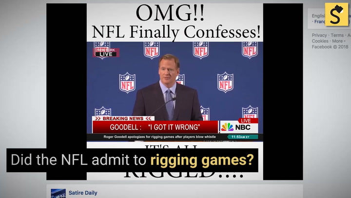A deceptive video about rigged football games created by a