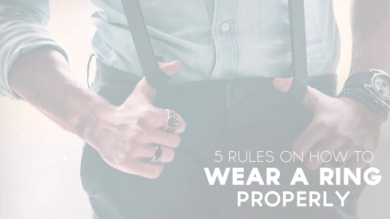 5 Rules For Men Wearing Rings   Ring Symbolism & Significance