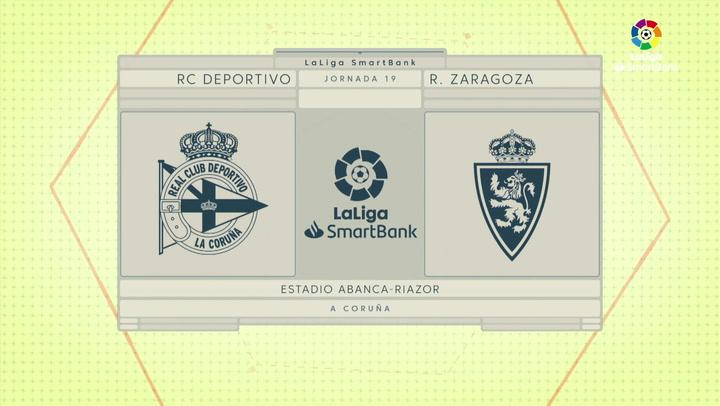 LaLiga SmartBank (J19): Resumen y goles del Deportivo 1-3 Zaragoza
