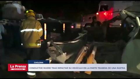 Conductor muere tras impactar su vehículo en la parte trasera de una rastra