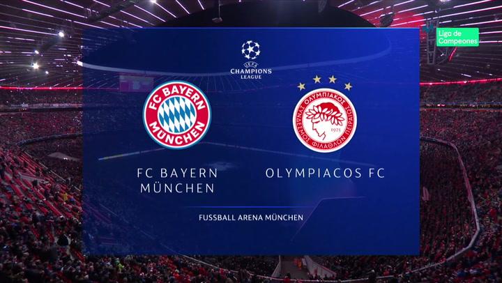Champions League: Resumen y Goles del Bayern Múnich - Olympiacos
