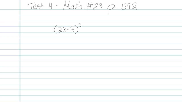 Test 4 - Math - Question 23