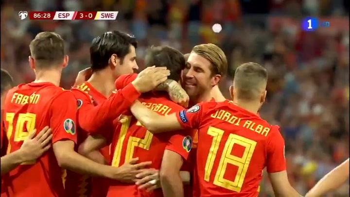 Gol de Oyarzábal con España ante Suecia