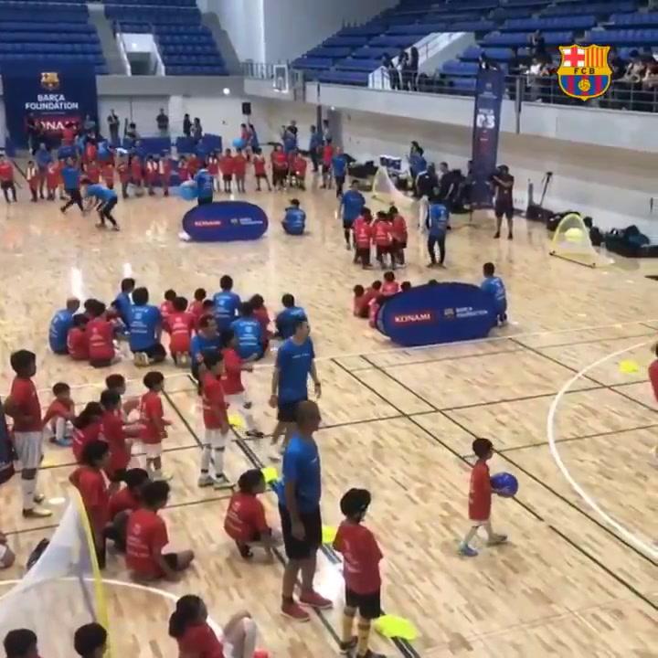 La Fundació Barça, con los niños japoneses