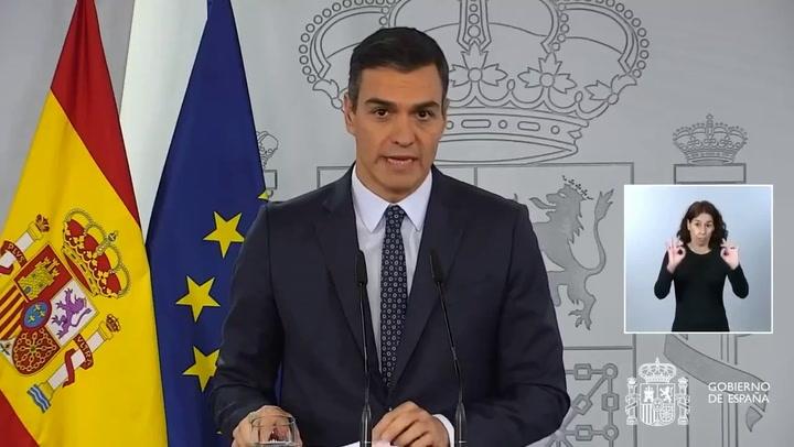 Pedro Sánchez anuncia que decretará el Estado de Alarma