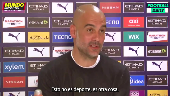 "Guardiola: ""La Superliga no es deporte"""