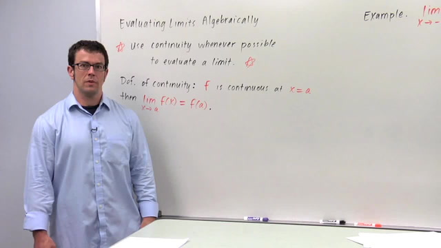 Evaluating Limits Algebraically, Part 1